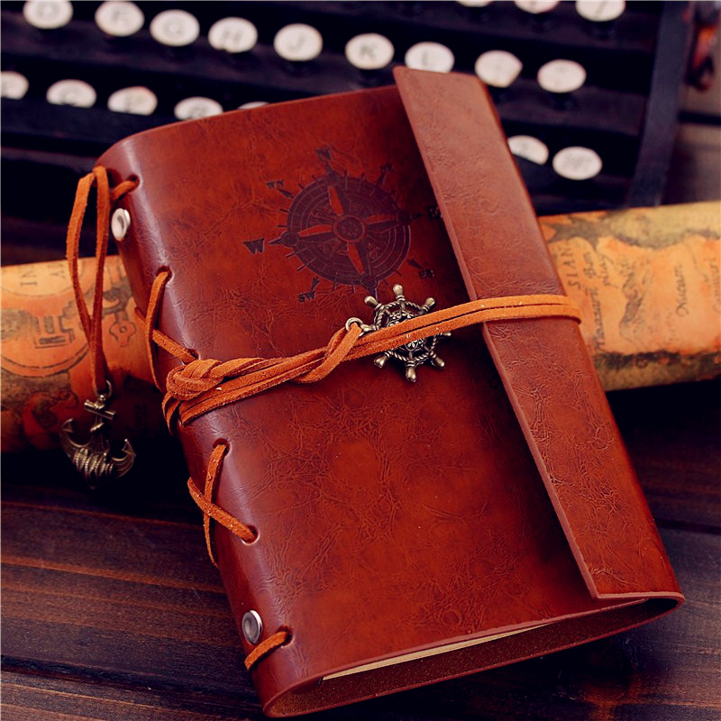 Creative Journal Diary Book NoteBook A6 Vintage Pirate Replaceable Traveler Notepad book A5 Leather Cover Blank creative art fashion a6 journal planner book weekly monthly daily page blank paper pu leather diary notebook gift free shipping