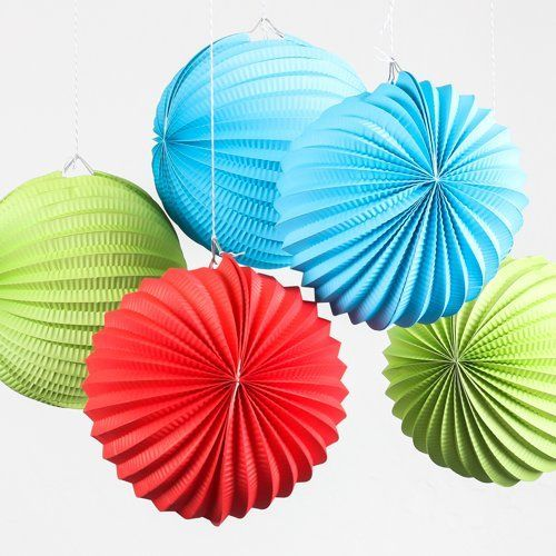 New Arrival 10pcs 19cm Pleated Paper Lanterns Party Decoration Hanging Accordion  Lanterns Wedding Baby Shower Festival Supplies In Lanterns From Home ... Photo