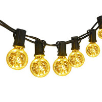 G40 Globe String Lights 25 Feet Linkable Indoor Outdoor Lights 25 LED Light Bulbs Energy Efficiency