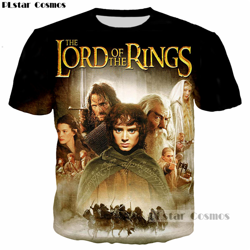 PLstar Cosmos TV The Lord of the Rings Design summer t-shirt Men Women Cool 3D t shirt harajuku style casual O-Neck Tee shirts