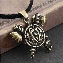 LM-N187 Vintage Mundo de Juego Collar Orco insignia Colgante simple Aleación de Bronce de La Joyería