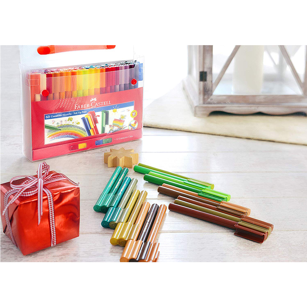 Image 4 - 80 Color Art Marker Pen Connector Fibre Tip Pen Kids Water Colour Pen Watercolour Colouring Drawing Pens for Children Doodling-in Art Markers from Office & School Supplies