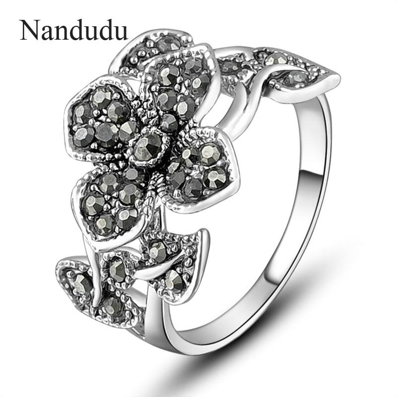 Nandudu skaistu ziedu markazīta gredzenu izmērs 6 7 8 9 AKCIJAS - Modes rotaslietas