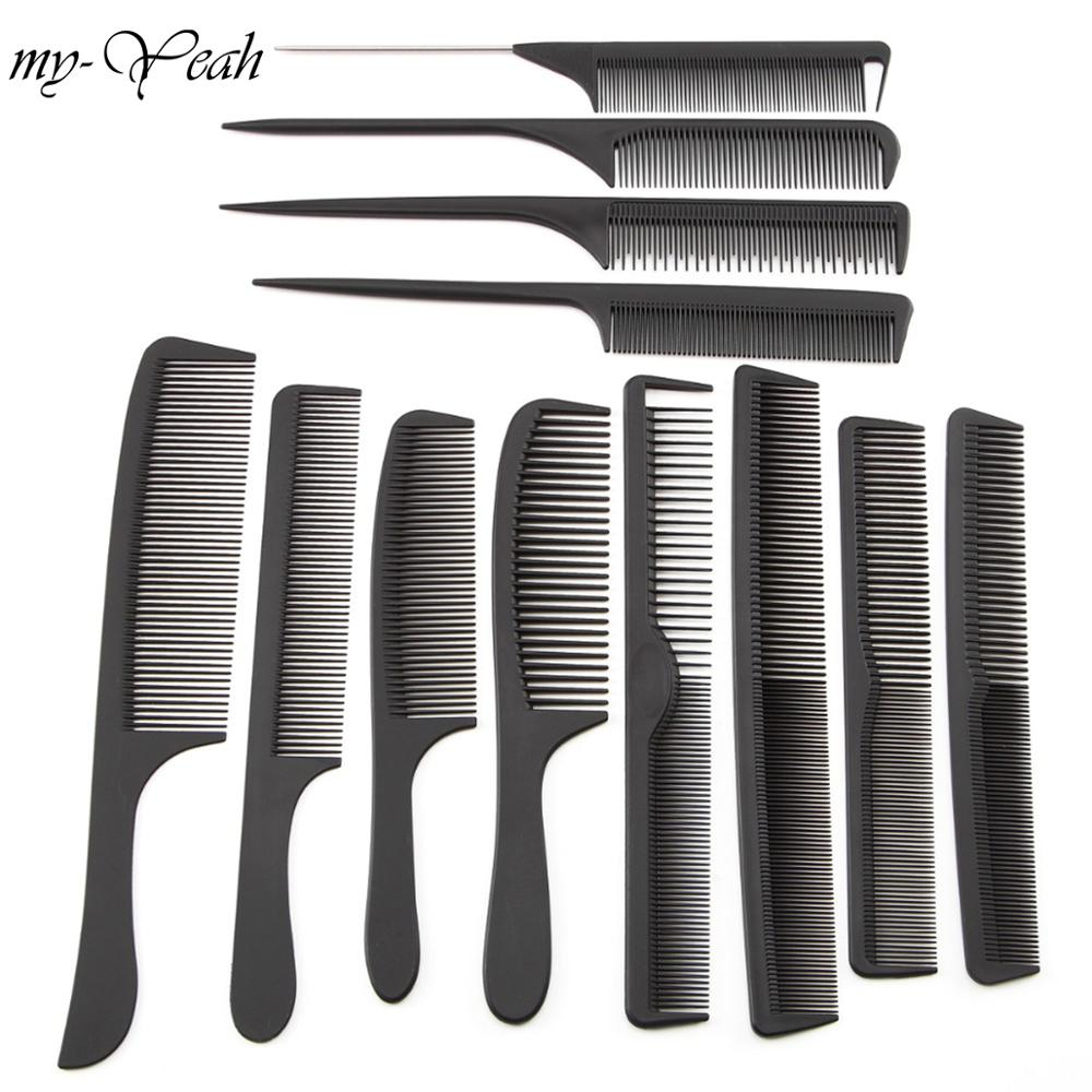 12 Style Anti-static Hairdressing Combs Detangle Straight Hair Brushes Girls Ponytail Comb Pro Salon Hair Care Styling Tool(China)