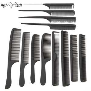 12 Style Anti-static Hairdressing Combs Detangle Straight Hair Brushes Girls Ponytail