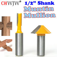 2 Pc 1 2 SH Window Grill Muntin Mullion Cutter Router Bit Set Woodworking Cutter Tenon
