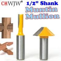 2 Pc 1 2 SH Window Grill Muntin Mullion Cutter Router Bit Set Woodworking Cutter Tenon
