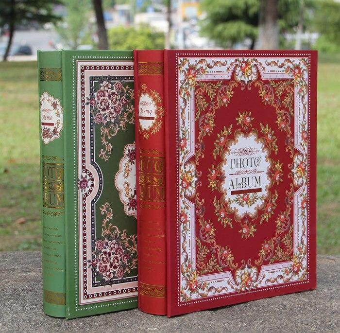 Envío libre 4D grande 6 pulgadas 200 páginas Foto Album Scrapbook papel bebé familia boda Foto Scrapbooking