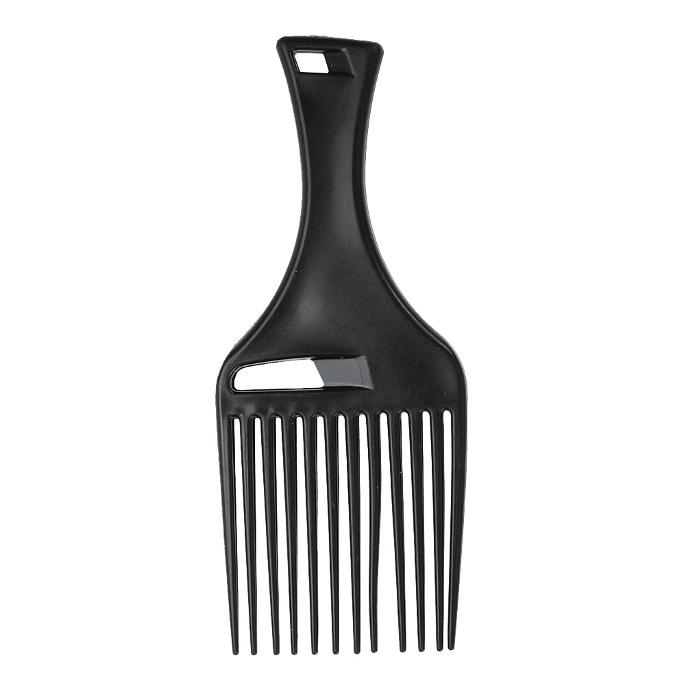 1Pcs Afro Hair Comb Hair Fork Comb Insert Hairdressing Curly Hair Brush Comb Hairbrush Styling Tool for Men & Women Black 1