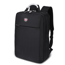 Mochila Anti Theft Zipper Waterproof Multifunctional Nylon Backpack for College Travel Business Unisex 14 Inch Notebook Black