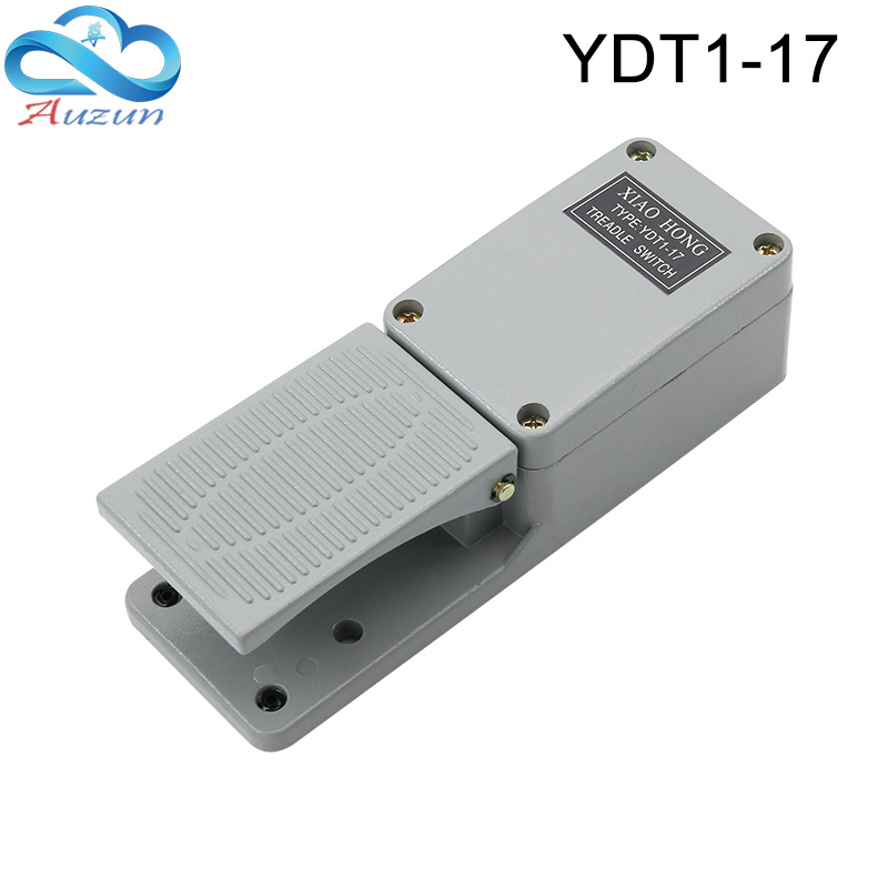 etc AC 250V 10A 1NO 1NC Equipment Foot Pedal Switch,Non-Slip Momentary Electric Self-Reset Power Treadle Pedal Foot Control Switch for Machine Tools