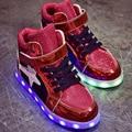 Niños Zapatos Niñas Zapatos Niños Colores de Luz Led de Carga Usb Luz Luminosos Niños Zapatillas de Deporte zapatos Del Deporte Del Niño Transpirable Zapatos de Tamaño 29-34