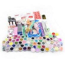 2016 Manicure kit  Acrylic Powder Liquid Brush Glitter Tweezer Primer File False Nail Art Set Tips Polish Brush Set