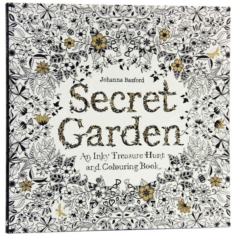 - 96 Pages English Secret Garden Coloring Books For Adults Kids Relieve  Stress Kill Time Graffiti Painting Book Libros|secret Garden Coloring Bookbooks For Adultscoloring Books For Adults - AliExpress