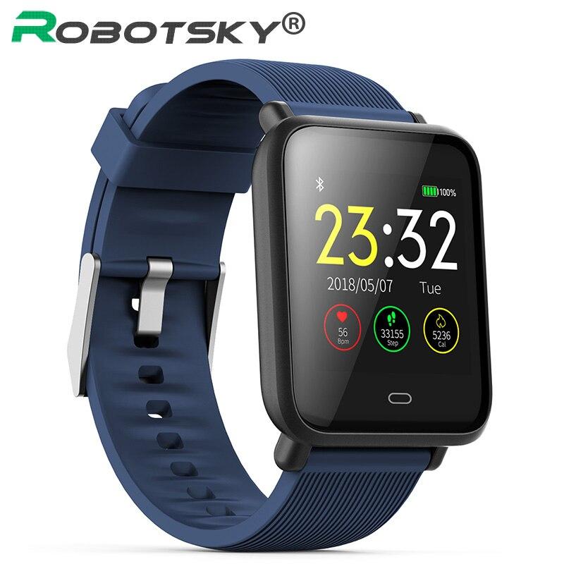Q9 Smart Uhr Blutdruck Herz Rate Schlaf Monitor Armband IP67 Wasserdichte Sport Fitness Trakcer Uhr Männer Frauen Smartwatch