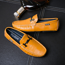 High Top Quality Full Genuine Leather Men Loafers Classic Vintage Casual Shoes Soft Light Weight Flats Lazy