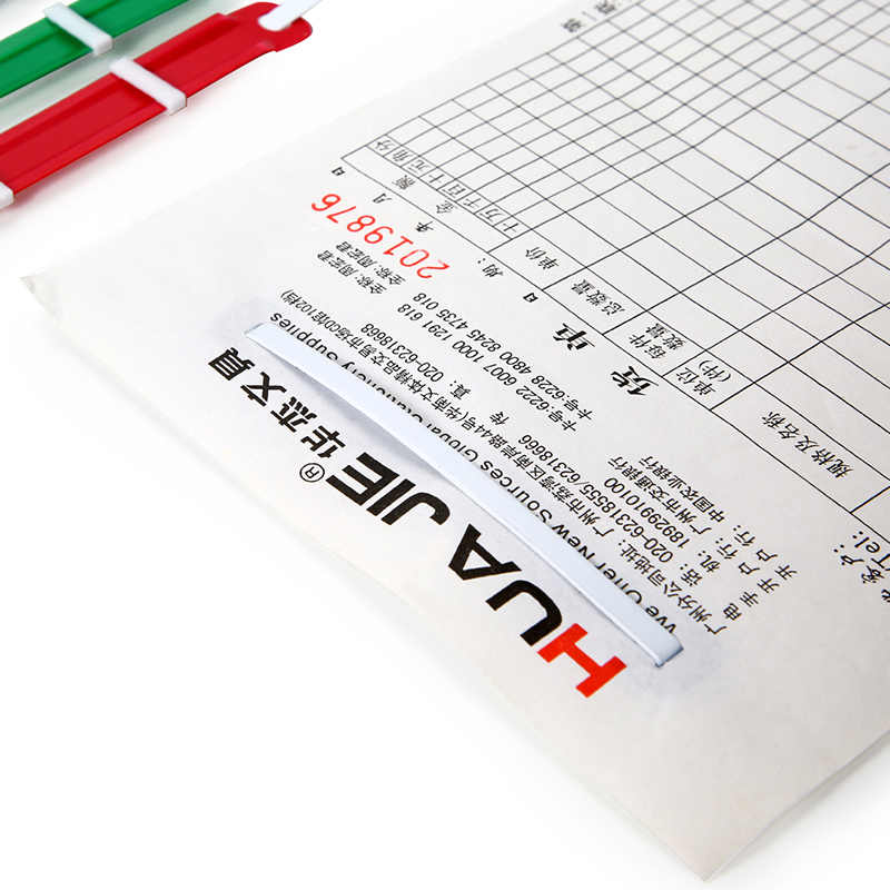 Plastik Logam Loose-Leaf Mengikat Klip 50 Buah 2 Lubang Kertas Pengencang Kantor Mengikat Sisir & Duri Kantor Binding perlengkapan H1011