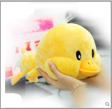 Free shipping Hot Sale 30CM Stuffed Dolls Big face  Yellow Duck Plush Toys Best Gift for Children In Stock new hot sale plush stuffed toys big yellow duck plush stuffed duck doll for children cotton soft free shipping