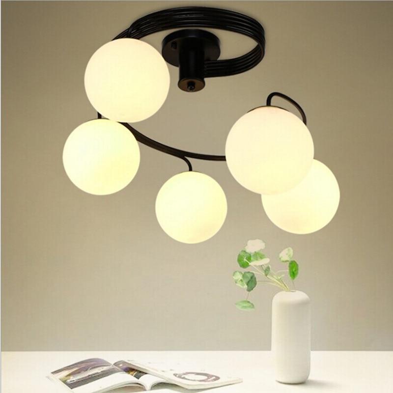 AC85-265V LED Stropní světla Stropní osvětlení Černá Kreativní osobnost Stropní svítidla Svítidla Obývací pokoj Luster
