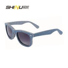Солнцезащитные очки для мужчин и женщин из денима/ацетата ламинированные