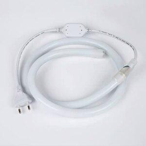 Image 2 - 220 v 230 v 240 12v ラウンド Led ネオンストリップライト柔軟なチューブ防水 IP68 ロープテープ白、赤、緑青黄色ピンク