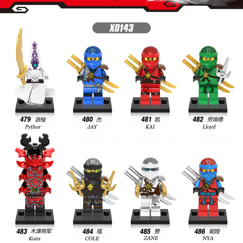 2017 HOT NINJA Heroes Kai Jay Cole Zane Nya Lloyd With Weapons Action Toy Figure Blocks Compatible LegoINGlys NinjagoINGlys 8pcs s compatible legoings ninjagoes with weapon ninja kai cole jay zane lloyd nya building blocks kids toys gifts for children