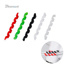 Deemount 5PCS/Lot Bicycle Cable Manager Spiral Elastic Rubber Line Tie Minder Bike Light Threading Cord Holder Controller Bicycl(China)