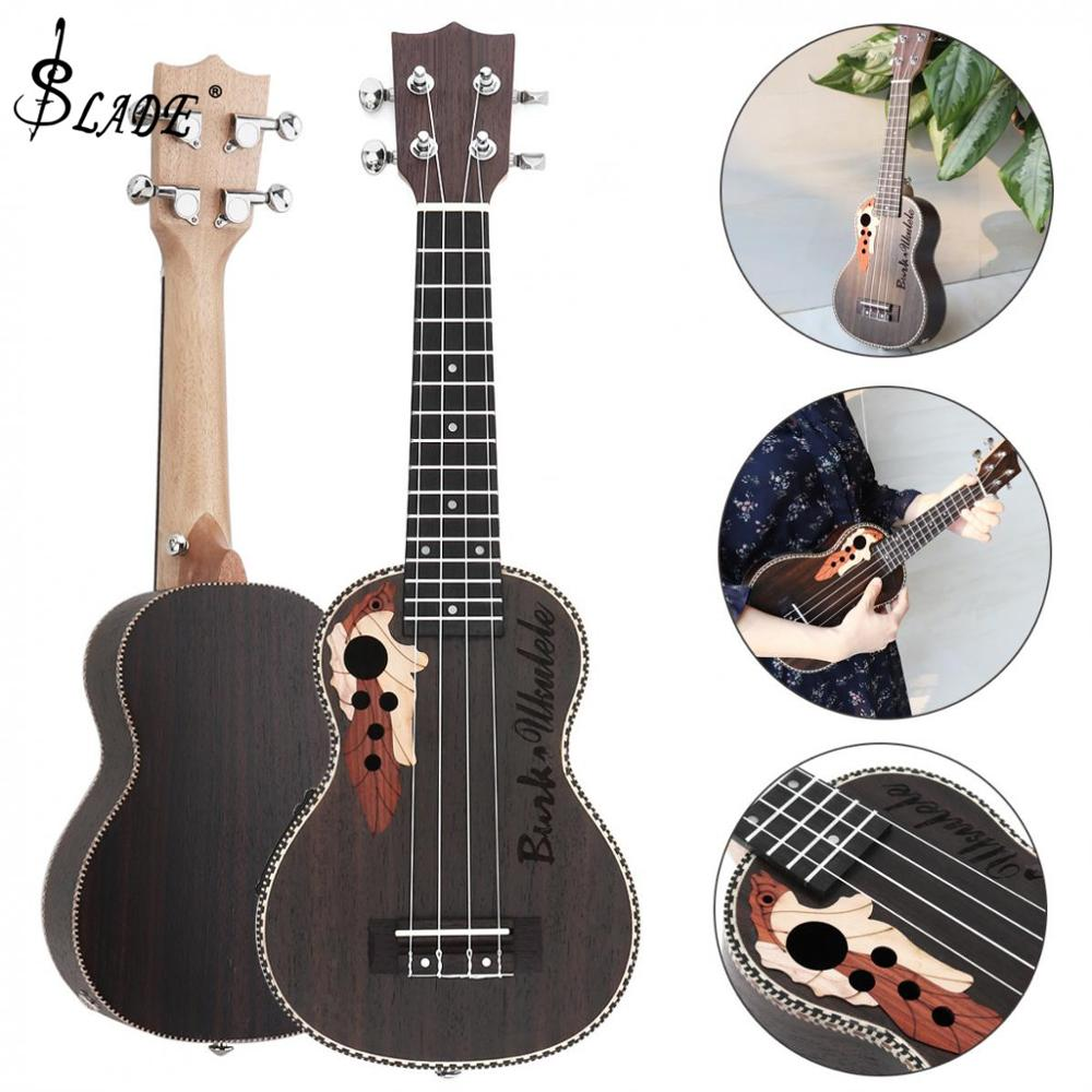 21 Inch Spruce EQ Soprano Ukelele 15 Fret Electroacoustic 4 Strings Guitar with Built-in EQ Pickup Musical Instrument21 Inch Spruce EQ Soprano Ukelele 15 Fret Electroacoustic 4 Strings Guitar with Built-in EQ Pickup Musical Instrument