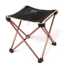 AOTU Outdoor Folding Fold Aluminum Chair Stool Seat Fishing Camping