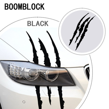 Car Styling Scratch Stripe Headlight Decal Sticker 40 x 12cm For Abarth Fiat 500 BMW E60 E36 E34 Mercedes Benz W204 Volvo XC90 image