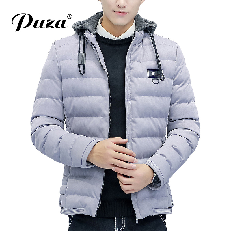 2017 New Arrival Parka Men' Cotton-Padded Coat Winter Hooded Jacket Casual Male Slim Mens Windproof Warm Style Men's Outerwear new arrival winter jacket men warm cotton padded coat mens casual hooded jackets handsome thicking parka plus size slim coats