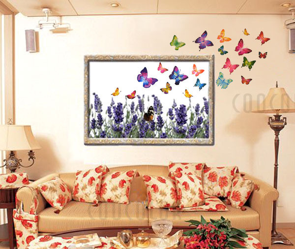 Beautiful Butterflies Sitting Room DIY Wall Stickers Home Decorative  Poster/Paster,TV Background Wall Decal In Wall Stickers From Home U0026 Garden  On ...