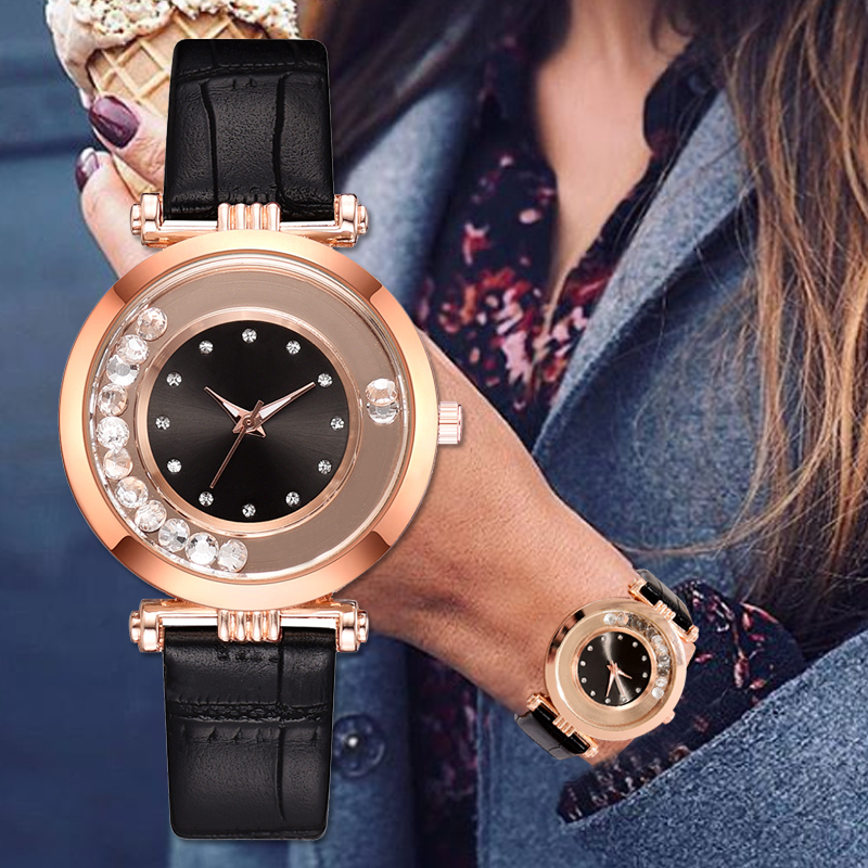 Lvpai Brand Hot Fashion Women Rhinestone Watches Casual Ladies Luxury Leather Quartz Watch Clock Relogio Feminino Dropshipping