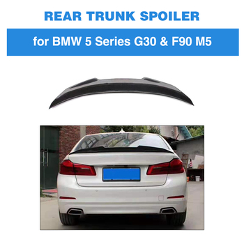 For BMW G30 G38 F90 M5 2018 2019 Rear Trunk Boot Lip Spoiler Wing Lid Carbon Fiber