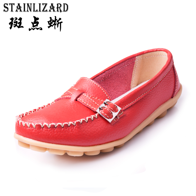 2017 Moccasins Loafers Soft Slip on Women Flats Female Shoes Mother Casual Shoes Fashion Woman PU Leather Ladies Shoes 5-DT915 2017 autumn fashion real leather women flats moccasins comfortable summer ladies shoes cut outs loafers woman casual shoes st181