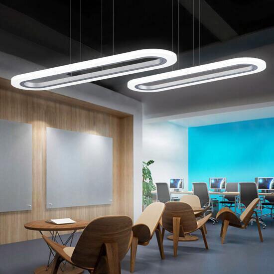 Led Office Pendant Light Modern Simple