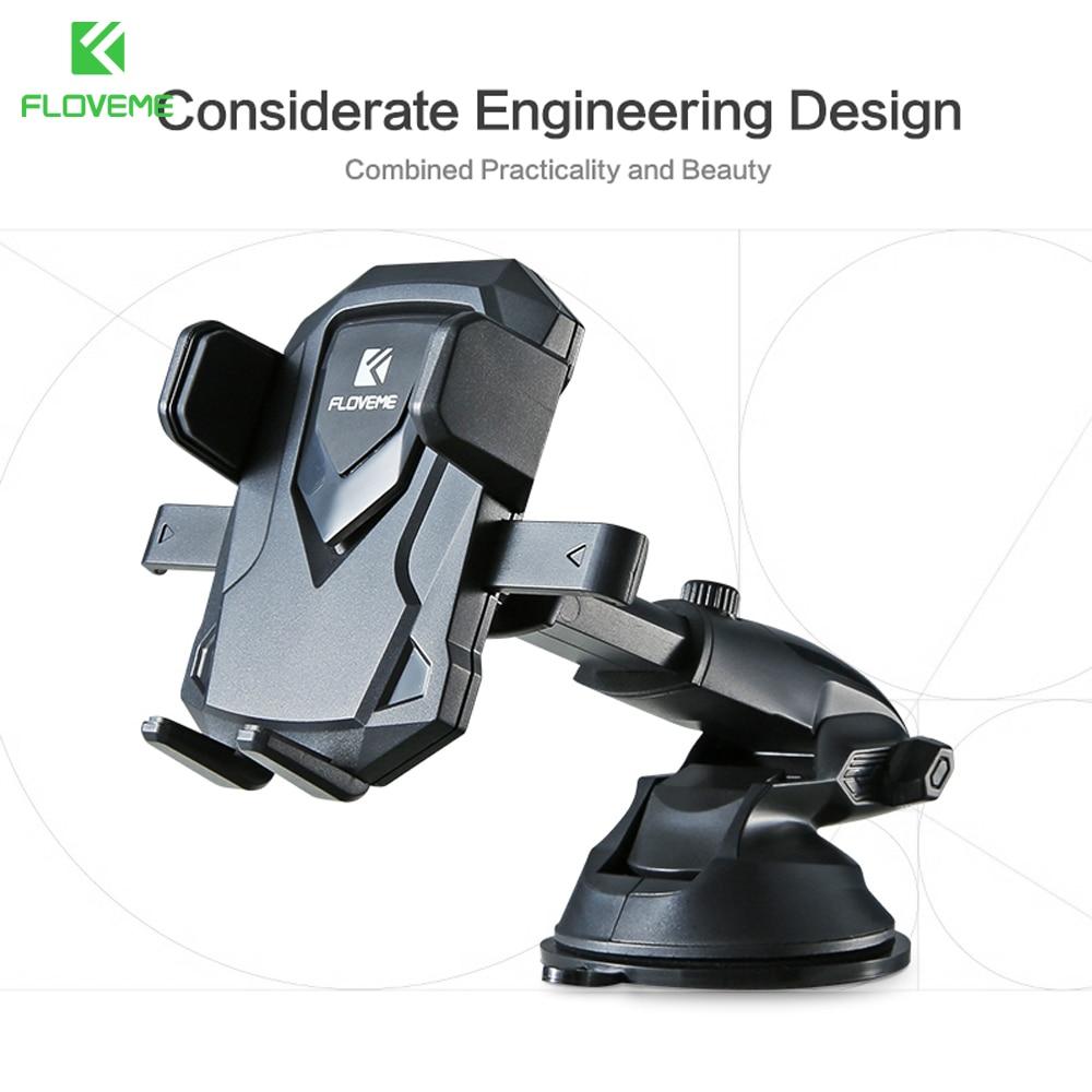 FLOVEME Car Phone Holder For iPhone 5 SE 6 7 Samsung Galaxy S9 S8 Xiaomi Car Holder Stand For Phone in Car telefon tutucu suport
