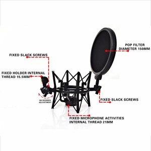 Image 5 - Sh 101 Hot Koop Microfoon Mic Professionele Shock Mount Met Pop Shield Zeef Voor Korte Draad Microfoon