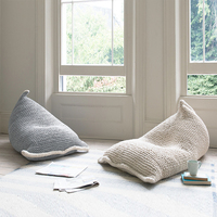 Handmade Knit Creativity Lazy Sofa Kids Bean Bag Sofa Chair Living Room Children Single Puff Sofa Bed Tatami Home Decoration