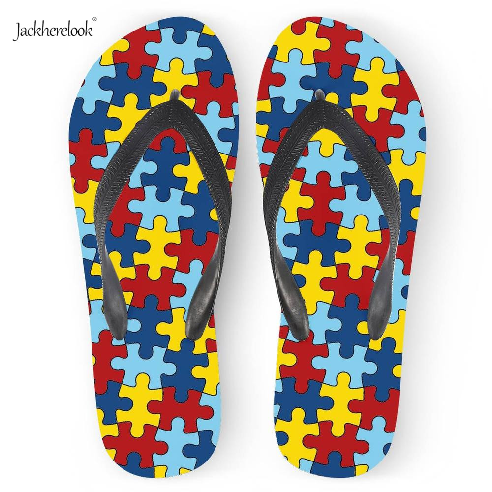 Shoes Women's Shoes Jackherelook 2019 Summer Slippers Women Casual Soft Rubber Durable Flip Flops Beach Sandals Female Autism Awaerness Flip-flops