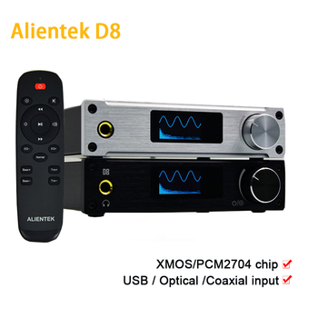 Alientek D8 Full Digital Power Class D Amplifier USB DAC Audio Headphone Amplifier input XMOS XU208 Coaxial Optics AUX 80W smsl m3 desktop mini dac headphone amplifier hifi cs4398 usb dac audio headphone amp optical coaxial input