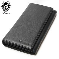 Wholesale China Manufacturer Wallet 100 Genuine Leather Black Color For Business Man Men S Vintage Wallets