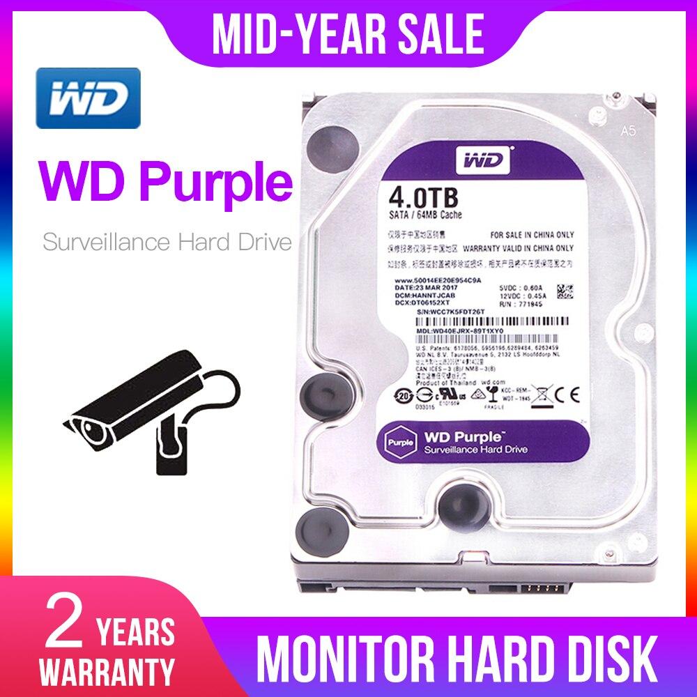 Disque dur de Surveillance HDD 4 to WD Purple-5400 RPM classe SATA 6 Gb/s 64 mo Cache 3.5 pouces-WD40EJRX