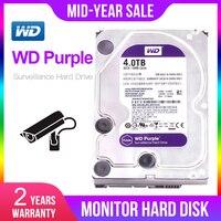 WD Purple 4TB HDD Surveillance Hard Disk Drive 5400 RPM Class SATA 6 Gb/s 64MB Cache 3.5 Inch WD40EJRX
