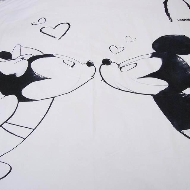 Disney Mickey Minnie Mouse Bedding Set Black And White Cartoon
