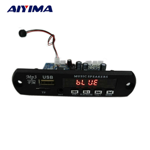 Image 5 - AIYIMA 2,0 Kanal Bluetooth Verstärker Bord Stereo 10W * 2 MP3 Decoder Unterstützung FM APE MP3 WAV WMA USB soundkarte APP 12V