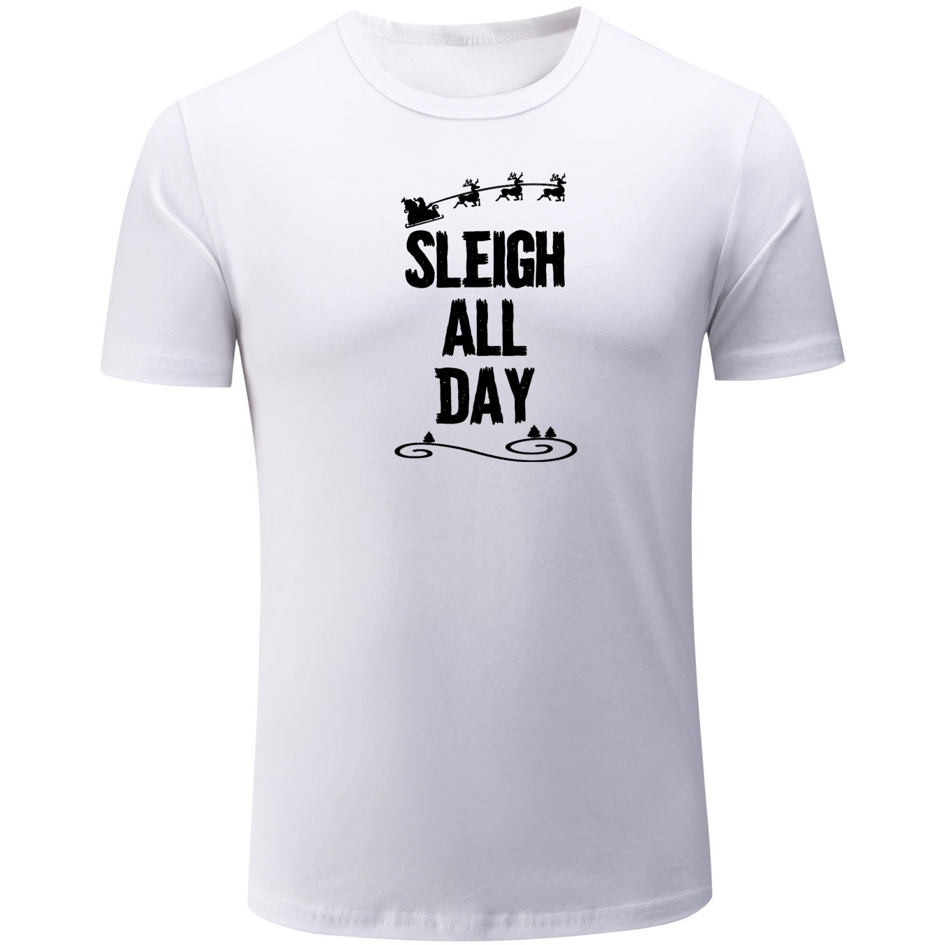 Beautiful Funny Short Sleeve Men's T-shirt Sleigh All Day Summer Unisex Tee Shirts Cotton Fitness Tops For Boy Casual Holiday Clothing Sale Overall Discount 50-70%