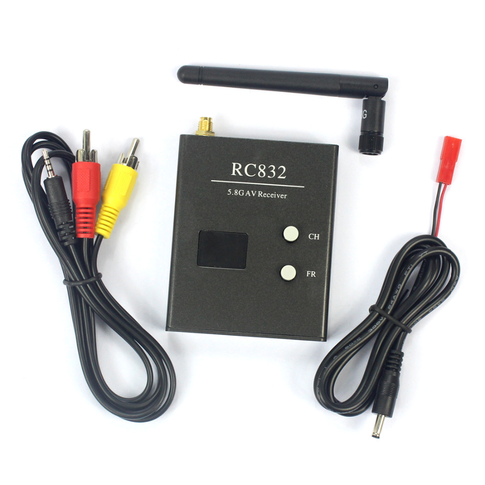 FPV 600mw Aerial Photography RC832 5.8G 40CH AV Receiver System DIU Drone Accessory Parts Black Color Optional F07272