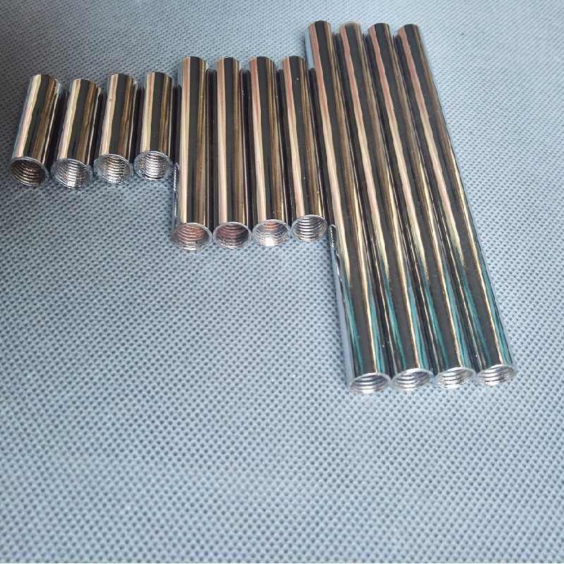4 шт./лот m10 внутренняя резьба + металл с гальванопокрытием полая труба для осветительных приборов с обеих сторон имеет внутреннюю резьбу