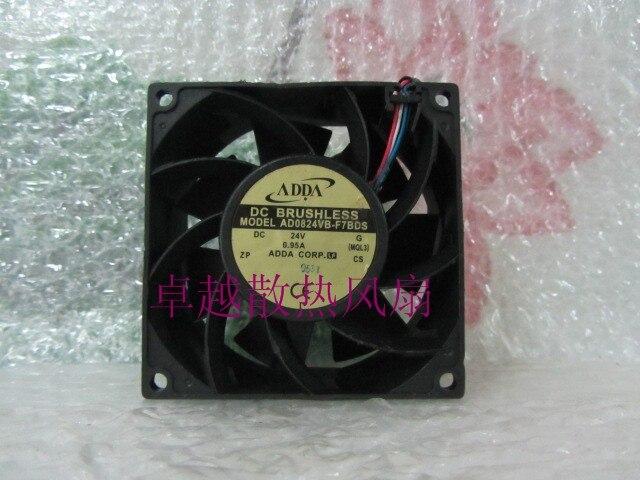 адда ad0824vb-f7bds 8038 24В 0.95 двойной линии мяч fancooling вентилятор